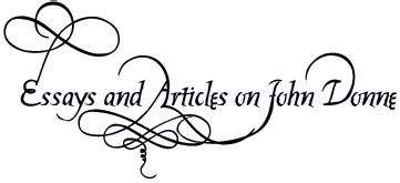 John Donne as a Metaphysical poet Art Essay